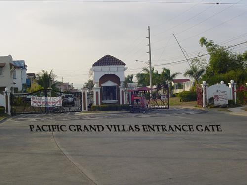 Pacific Grand villas entrance gate