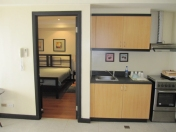 bedroom door, kitchen