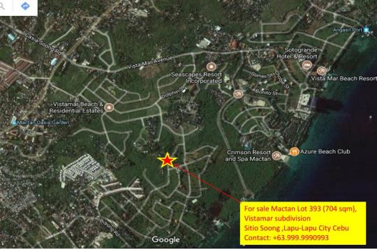 Loacation of Mactan Lot 393 for sale